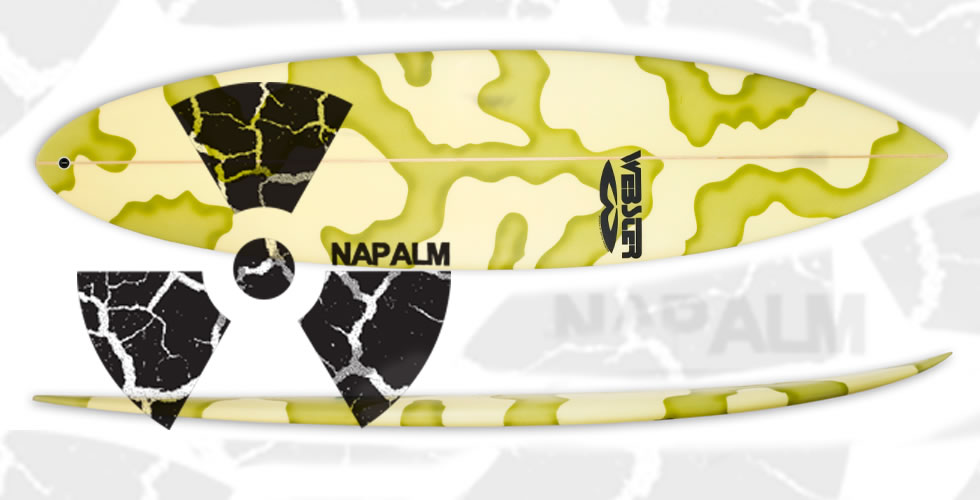Napalm Step-up surfboards